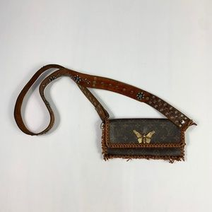 Upcycled authentica Louis Vuitton crossbody